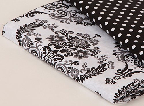 Bacati- Classic Damask White/black Crib Fitted Sheet