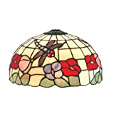 Loxton Lighting 30 cm Dragonfly Design Tiffany Dome Shade