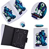 PU Leather 7-inch Tablet Cover Case For All Types Of 7-inch Tablets With 1 Touch Stylus Pen - Monster
