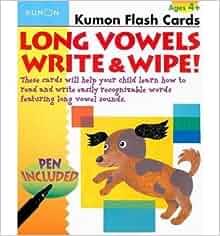 Kumon flash cards abc write and wipe