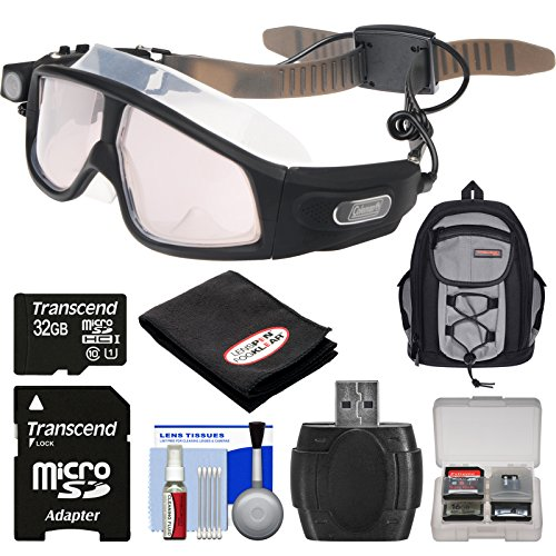 Coleman VisionHD G7HD-SWIM 1080p HD Action Video Camera CamcorderWaterproof POV Swimming Goggles with 32GB Card + Backpack + Anti-Fog Cloth + Reader + Kit (Coleman Hd Goggles compare prices)