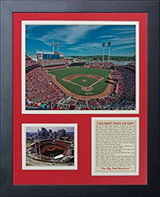 "Legends Never Die ""Cincinnati Reds Great American Ballpark"" Framed Photo Collage, 11 x 14-Inch"