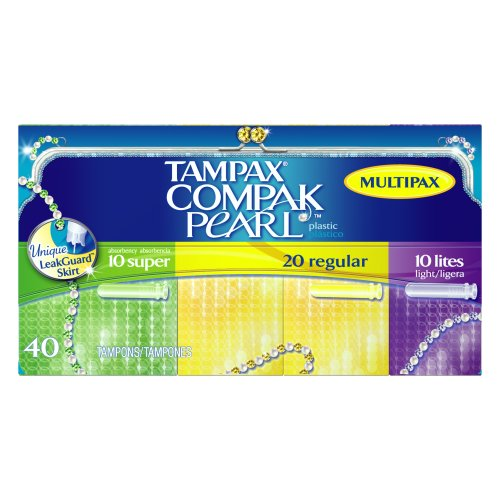 Amazon.com: Tampax Compak Pearl Multipax, 40-Count Packages (Pack of 6
