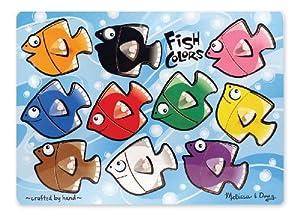 Melissa & Doug Fish Colours Mix 'n Match Peg Puzzle