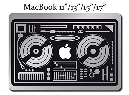 DJ TURN TABLES Decal LAPTOP MACBOOK Mac Pro Air Sticker Mix 13 (Dj Turntable Mac compare prices)