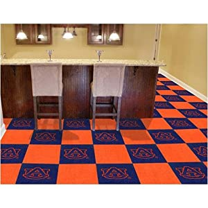 Fanmats Sports Team Logo Auburn Carpet Tiles 18x18 tiles by Fanmats