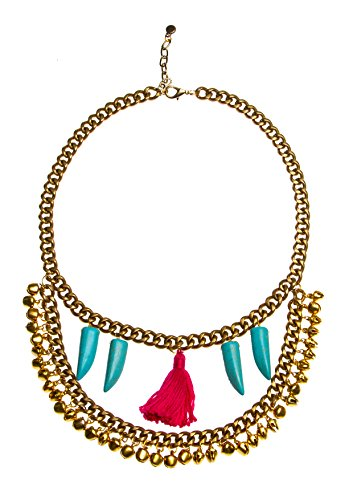Micare Antique Gold Petra Neckpiece for women (multicolor)