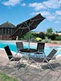 6 Piece Round Patio Set with Parasol