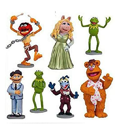 Muppets Most Wanted Movie PVC Figurine Playset set of 7pcs -No packaging
