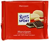 Ritter Sport Marzipan Chocolate Bar 100 g (Pack of 5)