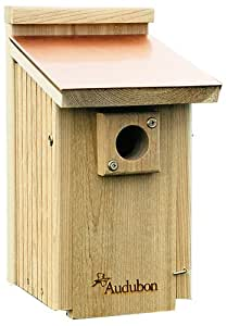 Audubon Coppertop Cedar Wood Bluebird House Model NACOPBB