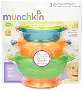 Munchkin Stay Put Suction Bowl, 3 Count (2pk) by Munchkin