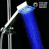 Ducha con Luz Eco Led Shower Cuadrada