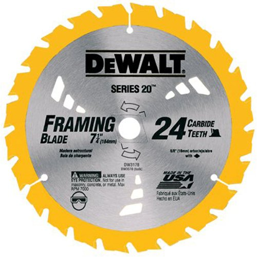 51cujH3CRHL Cheap DEWALT DW3582 8 1/4 Inch 24T Carbide Thin Kerf Circular Saw Blade