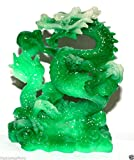 NEW Jade Color Chinese Feng Shui Dragon Figurine Statue for Luck & Success #L