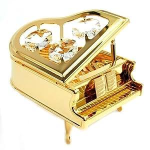 Amazon.com: Grand Piano 24k Gold Swarovski Crystal Ornament Figure
