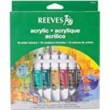 Reeves 18-Pack Acrylic Color Tube Set, 10ml