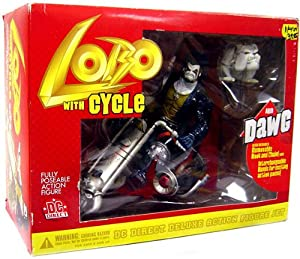 com: DC Direct Deluxe Action Figure Lobo Dawg with Cycle: Toys & Games