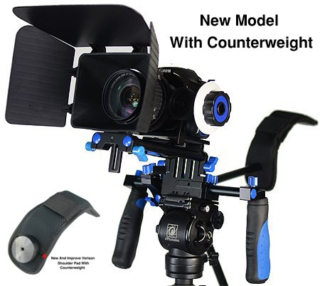 JRFOTO DSLR RIG With Follow Focus Matte Box And Counterweight By New Model JRFOTO FL02M