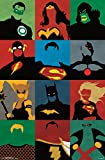 Trends International Justice League Minimalist Rolled Poster, 22 by 34-Inch