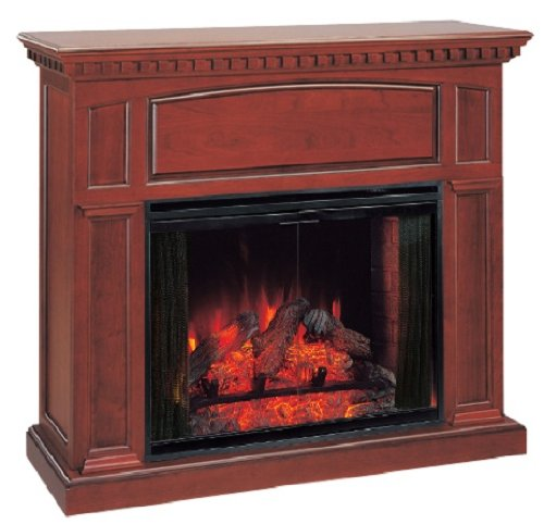 ClassicFlame Georgetown Wall Mantel in Premium Cherry w/ 33EF025GRS Electric Insert photo B00CC23HP4.jpg