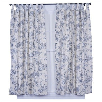 Ellis Curtain Andrea Thermal Insulated Double Width 160-by-84-Inch Tab Top Panel Pair Curtains, Wedgewood