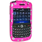 Amzer Snap On Case for BlackBerry Curve 8900 (Stars Pink)