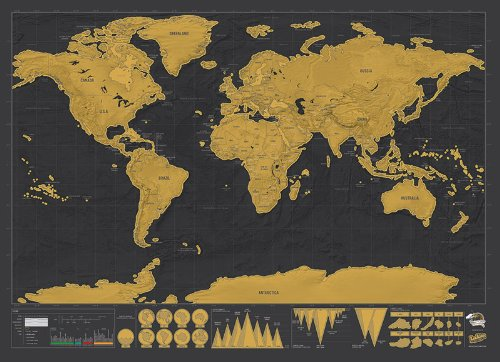 Scratch Off Deluxe Edition Travel End AM - Scratch us map