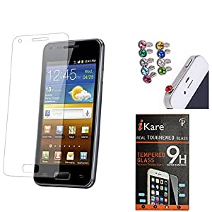 iKare Pack of 11 Tempered Glass for One Plus One + 3.5mm Jewel Dust Jack