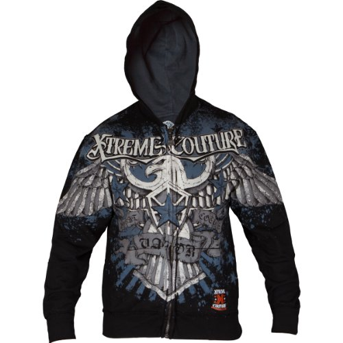 Xtreme Couture - Mens Sky Zip Hoodie In Black, Size: Small, Color: Black