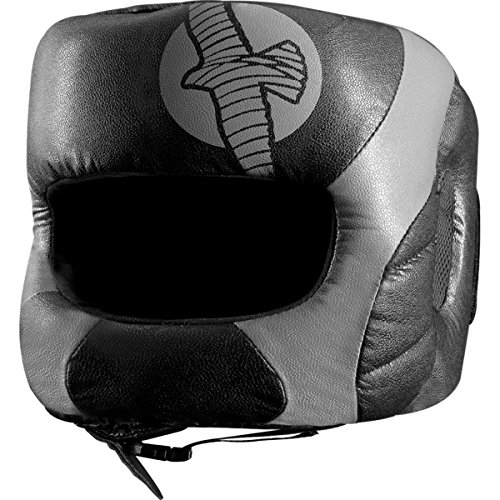 Hayabusa Fightwear Tokushu Regenesis Boxing Headgear - Black/Grey - One Size (Mma Gear Hayabusa compare prices)