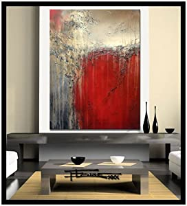 Modern Abstract Canvas Painting XL 48 X 36 X 1.5, Limited Edition Hand Embellished, Textured Giclee on Canvas. SAVAGE DESIRE - ELOISExxx