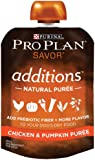 Purina Pro Plan Meal Enhancements for Dogs, Savor Additions Chicken & Pumpkin Puree, 4.5-Ounce Pouch, Pack of 1
