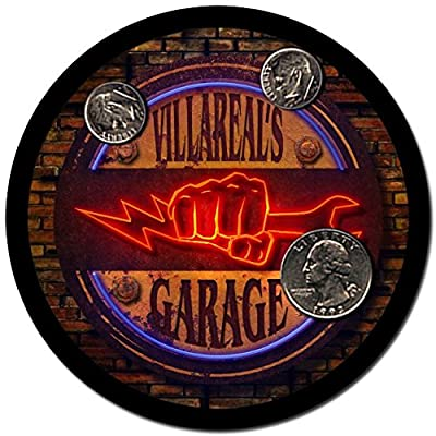 Villareal Garage Drink Coasters - 4 Pack
