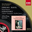 Oeuvres de Debussy, Ravel & Stravinsky