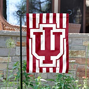 Buy Indiana Hoosiers Candy Stripe Garden Flag and Yard Banner by College Flags and Banners Co.