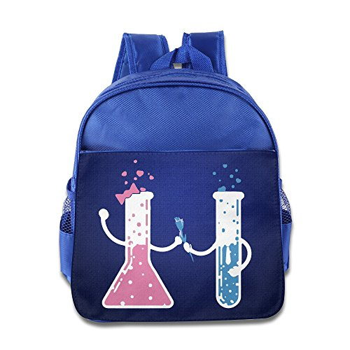 Chemistry Icon Glass Tube School Child Backpack Boys Girls Bags RoyalBlue