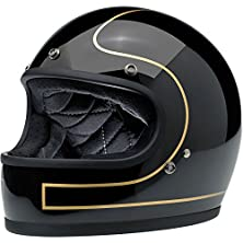 buy Biltwell Gringo Le Tracker Helmet (Gloss Black/Gold, X-Large)