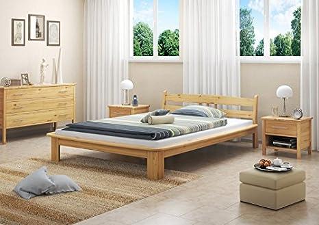 60.60-14 M letto in legno di pino massiccio 140x200 cm