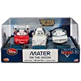 Disney / Pixar CARS TOON Exclusive 148 Die Cast Car 3Pack Mater on the Moon Moon Mater, Autonaut McQueen Impala XIII
