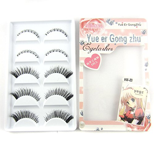 HW-23 5 pairs Natural False eyelashes Upper + Lower mix eye lashes makeup
