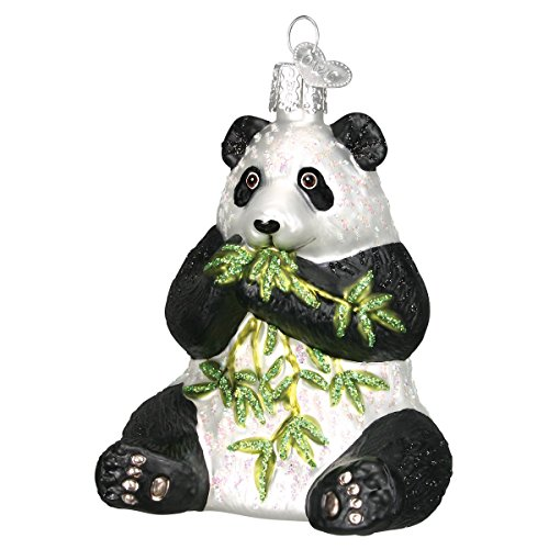 Old World Christmas Panda Glass Blown Ornament