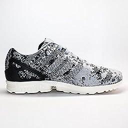 Adidas Zx Flux Weave Men\'s Running Shoes Size US 8.5, Regular Width, Color Gray/Black