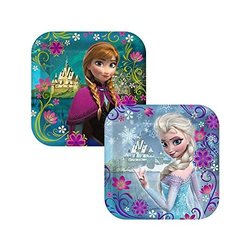 Disney Frozen Party Supplies Pack Including Plates Cups and Napkins for 16 Guests
