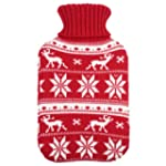 Large Hot Water Bottle With Removable...