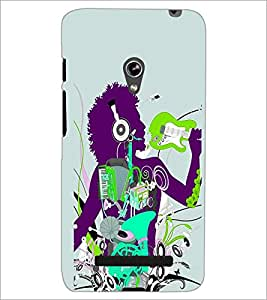PrintDhaba Music D-2916 Back Case Cover for ASUS ZENFONE 5 A501CG (Multi-Coloured)