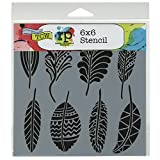 Crafters Workshop Template, 6 by 6-Inch, Fancy Feathers