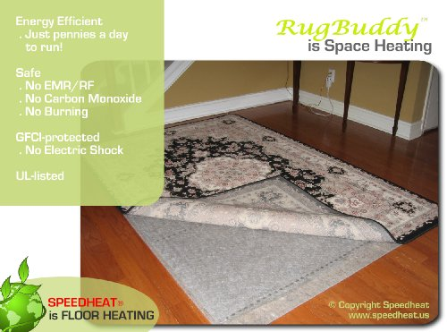 Rugbuddy 370 Under Rug Space Heater, 5' X 7'