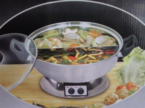 shabu shabu pot electric mongolian pot with divider 64 00