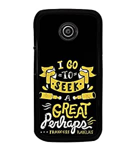 iFasho Life quote Back Case Cover for Moto E2